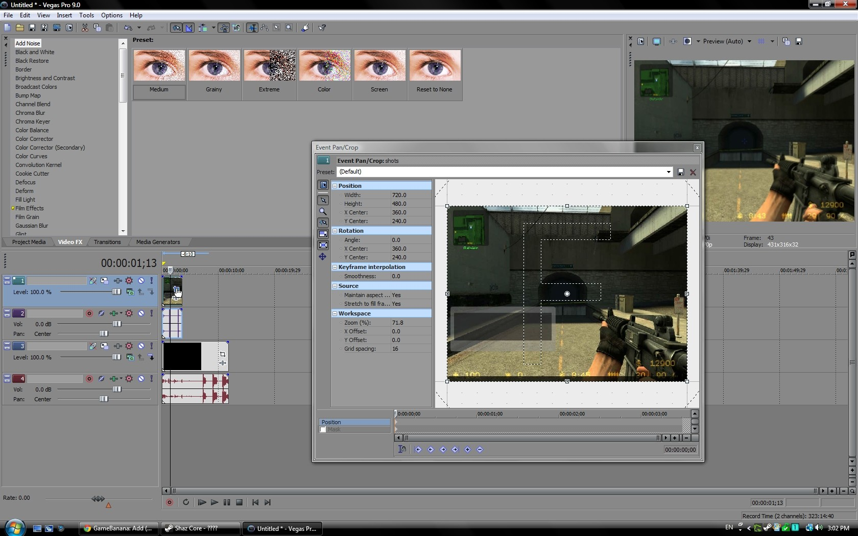 Sony Vegas: Pip (picture In Picture) Tutorial